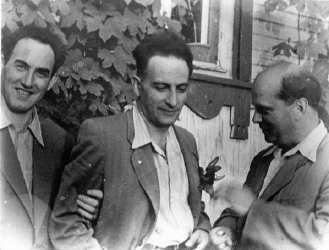 Вениамин Цукерман со своими друзьями Львом Альтшулером и Виталием Гинзбургом