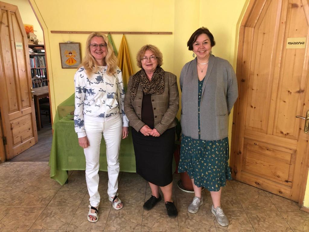 Встреча в школе лечебной педагогики с директором и основателем, Мариной Шостак